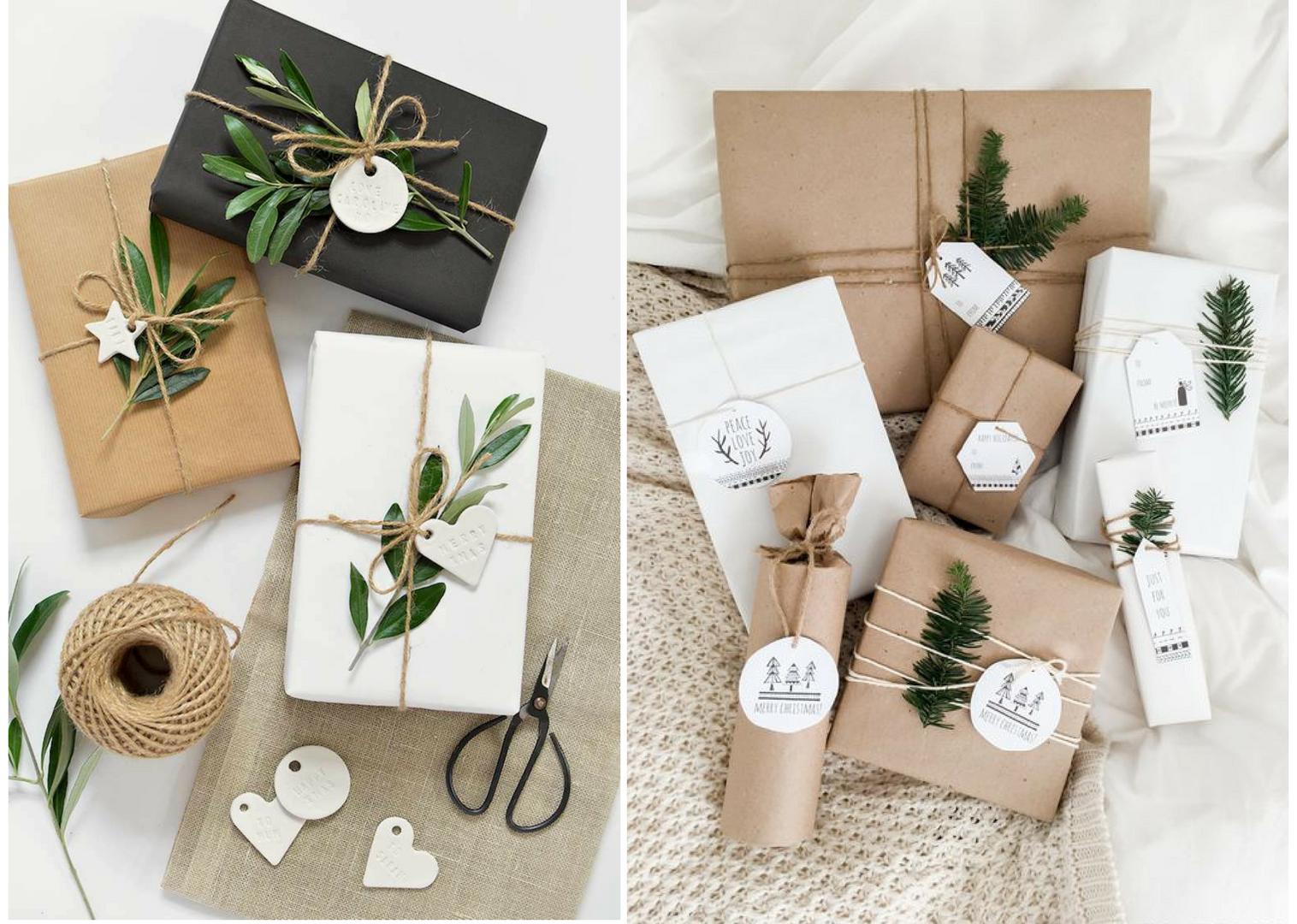 Étiquettes Papiers cadeaux de Noël