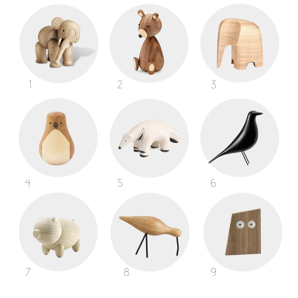 Sélection animaux en bois